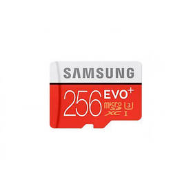Флешка карта памяти Samsung EVO Plus microSDXC UHS-I U3 256GB сlass10 с SD адаптером (007191)