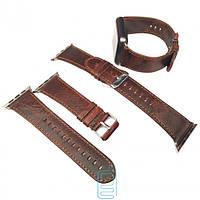 Ремешок Apple Watch Luxuary Leather Band 38mm темно-коричневый