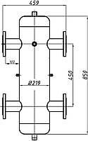 Гидрострелка Ду 65 с креплением ГС-30.219 (СК-30-01)