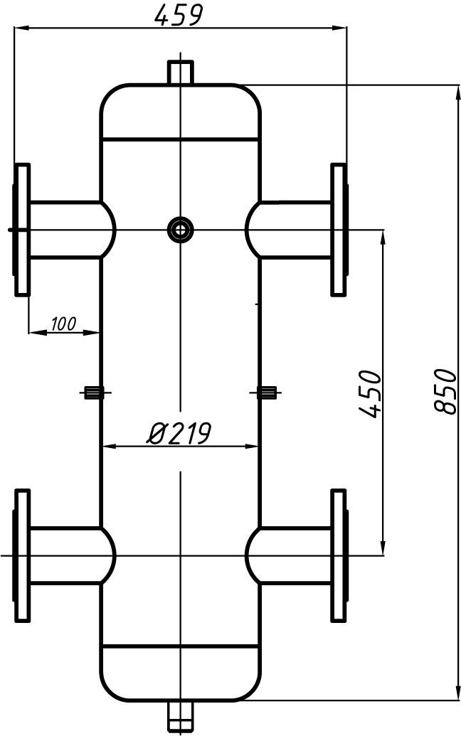Гидрострелка Ду 65 с креплением ГС-30.219 (СК-30-01) - Торговая фирма «Дюна» в Киеве