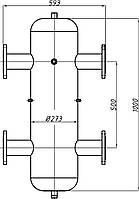 Гидрострелка Ду 80 с креплением ГС-31.273 (СК-31-01)