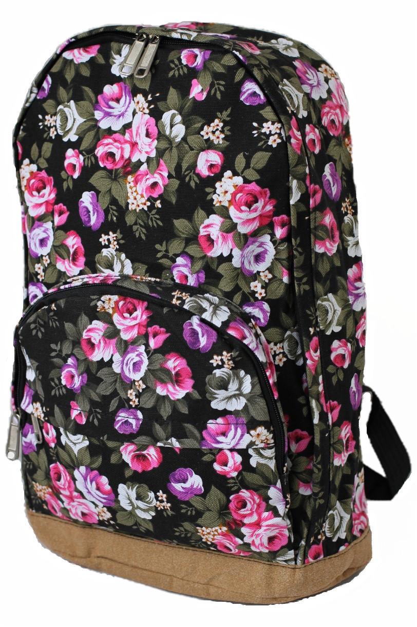 Рюкзак городской BH00133 Flowerbed Rose Black (tau_krp312_00133)