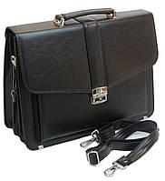 Классический мужской портфель из эко кожи AMO Черный (SST11 black)