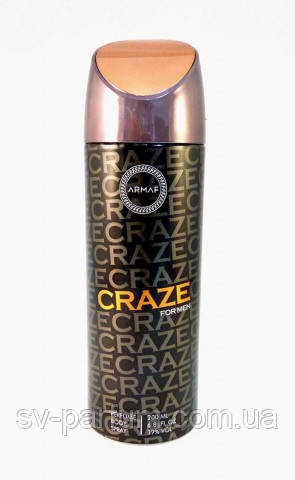 Парфюмированный дезодорант мужской Craze 200ml
