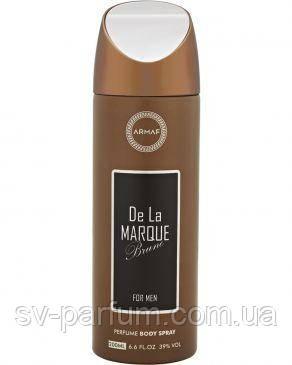 Парфюмированный дезодорант мужской De La Marque Brune 200ml