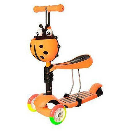 Самокат детский трехколесный 3 в 1 iTrike Maxi JR 3-054-H Orange (008745), фото 2