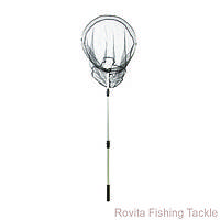 Подсак для ловли рыбы, круглый, 60см, мелкая сетка, рыболовный подсак для рыбы, вспомогательная снасть