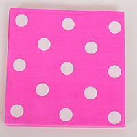 Аксессуары для праздника MET10146-8  салфетки, розовый в горошек, 20 шт в  кульке,17,5-23-1,5см