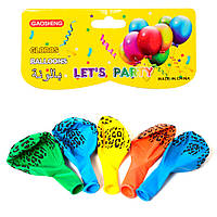 Шарики надувные MET10030  5шт, 13см, рисунок, в кульке, 13-20-0,5см