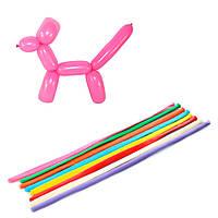 Шарики надувные MET10064  для моделирования, 100шт, 27,5см, микс цветов, в кульке,17-28-1см
