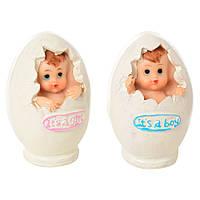 Фигурка 17-121  пупс, в яйце, 8см, 4шт в дисплее, 11-10-9см