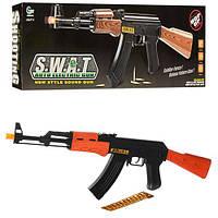 Автомат AK 47-1  63см,пули,шнурок, звук, свет,на бат-ке, в кор-ке, 47-15-4,5см