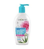Освежающий гель для интимной гигиены «Розовая вода+алоэ» Биокон 200 мл #B/E