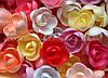 Вафельные цветы «Розы большие микс» 56 шт