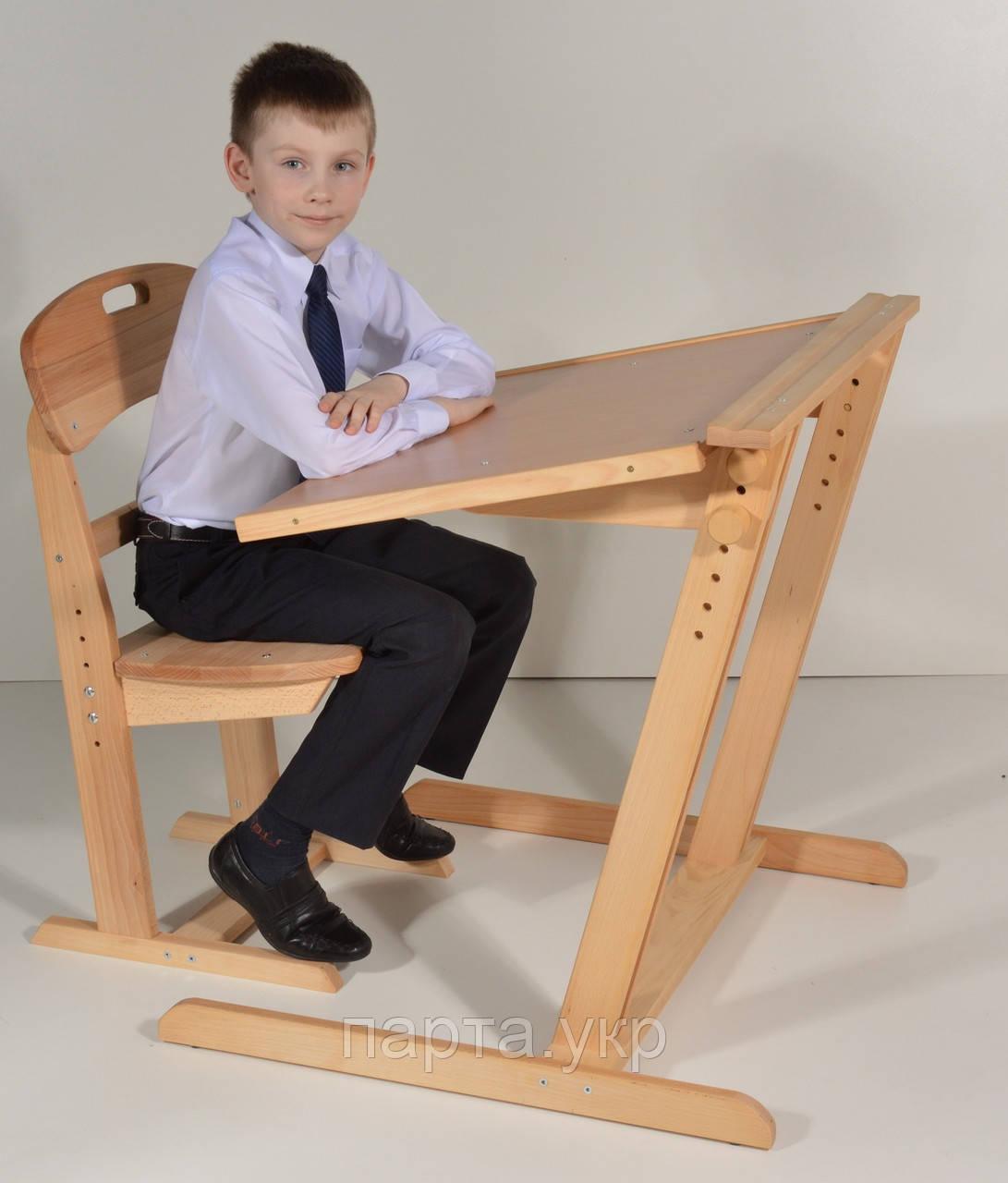 """Парта детская """"Косинець"""" и стул растущие"""