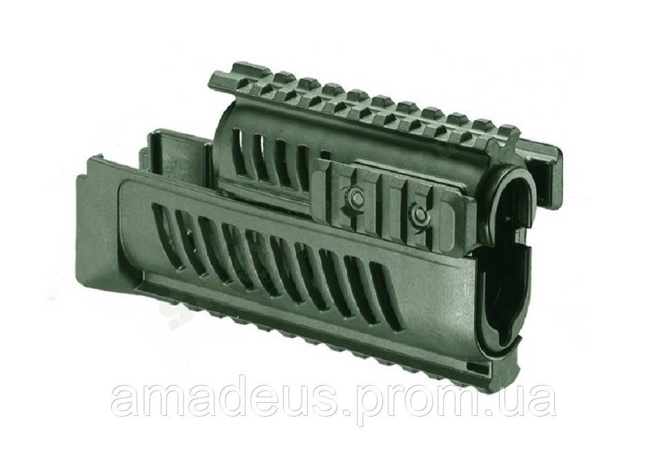 AKL47G Цевье тактическое FAB для AK 47/74, 4 планки, зеленое