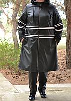 Плащ кожаный большого размера, с 48 по 82 размер, фото 1