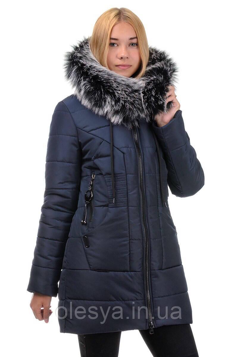 """Подростковое зимнее пальто на меху """"АЛИСА""""  Размеры 38- 44"""