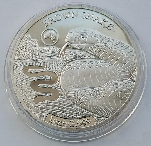 Соломоновы Острова. Змея. 1 доллар 2019 г.