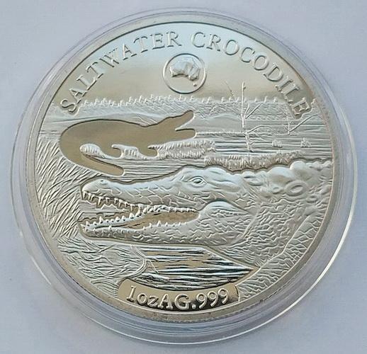 Соломоновы Острова. Крокодил. 1 доллар 2019 г.