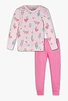 Пижама на девочку розовая C&A Германия Размер 110, 116