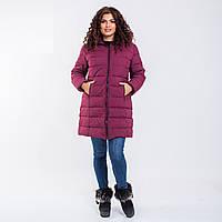 Женское пальто Indigo N 008T FROG PLUM
