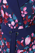 / Размер 50,52,54,56 / Женское расклешенное платье отрезное талии Хлоя цветы, фото 4