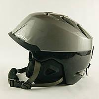 Гірськолижний шолом Wedze сіро-чорний глянець (H-013) Б/В - L 56-59см