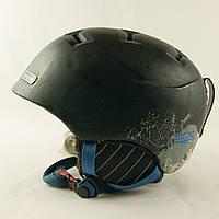 Гірськолижний шолом Julbo чорний матовий у фіол.візерунок (H-066) - 50-52см