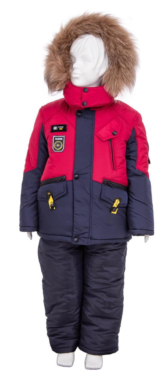 Зимний комбинезон для мальчика 22-28 бордо