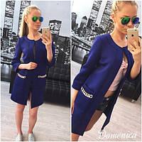 Пиджак женский темно-синий