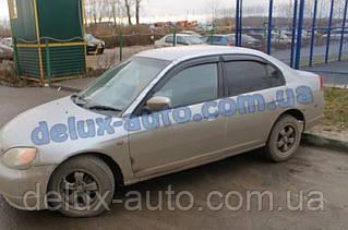 Ветровики Cobra Tuning на авто Honda Civic VI Sd 1995-2001 Дефлекторы окон Кобра для Хонда Цивик 6 седан 1995