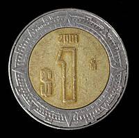 Монета Мексики 1 песо 2001 г.