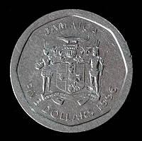 Монета Ямайки 5 долларов 1996 г.
