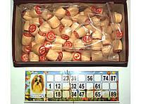 I5-33 Лото в картоне, Лото с деревянными бочонками 90 бочонков, Настольная игра, Лото русское
