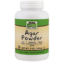 """Агар в порошке NOW Foods, Real Food """"Agar Powder"""" заменитель желатина (142 г)"""