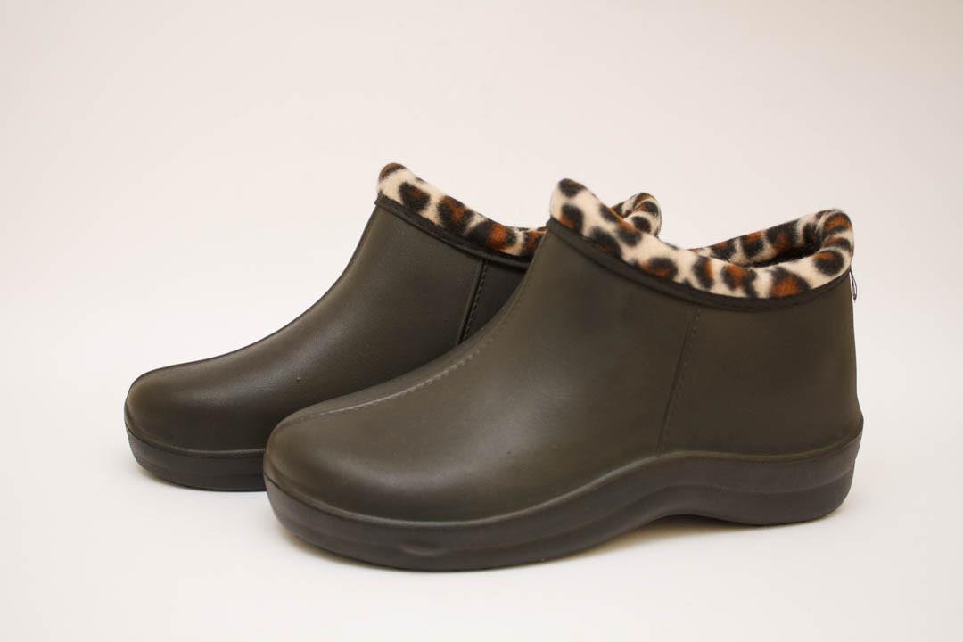 Галоши женские черные (Код: Д-33 Т леопард )