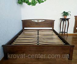 """Деревянная двуспальная кровать из массива ольхи от производителя """"Фантазия"""" 160х200 (орех), фото 2"""