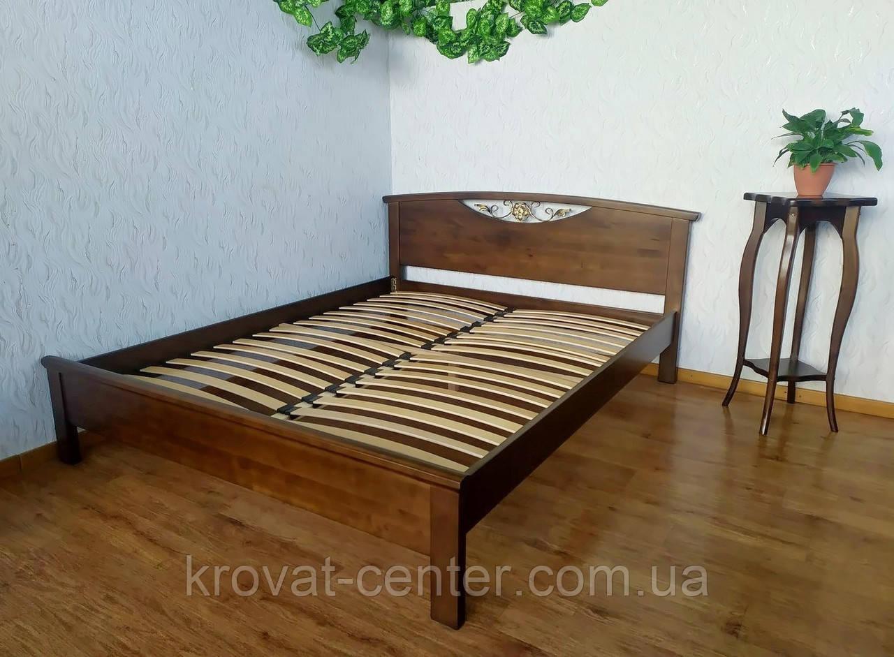 """Двуспальная кровать из массива дерева от производителя """"Фантазия"""" 160х190/200 (лесной орех)"""