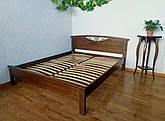 """Деревянная двуспальная кровать из массива ольхи от производителя """"Фантазия"""" 160х200 орех"""
