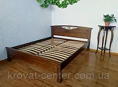 """Двоспальне ліжко з масиву дерева від виробника """"Фантазія"""" (лісовий горіх)"""