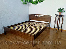 """Двуспальная кровать из массива дерева от производителя """"Фантазия""""  (лесной орех)"""