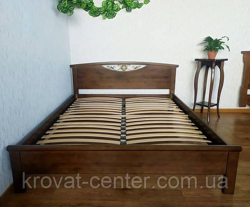 """Кровать двуспальная из массива дерева от производителя """"Фантазия"""" лесной орех, фото 2"""