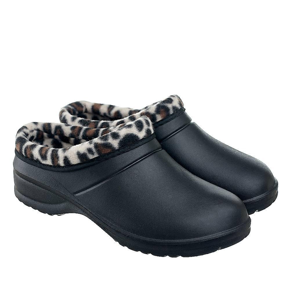Галоши женские черные (Код: Д-34 Т леопард )