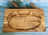 Доска из натурального дуба для подачи блюд 41х24 см, фото 1