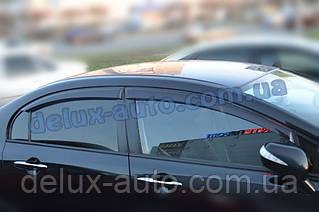 Ветровики Cobra Tuning на авто Honda Civic VIII Sd 2006-2011 Дефлекторы окон Кобра для Хонда Ciimo Sd с 2012