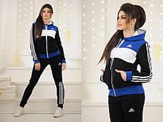 Женский спортивный костюм adidas утепленный логотип вышивка