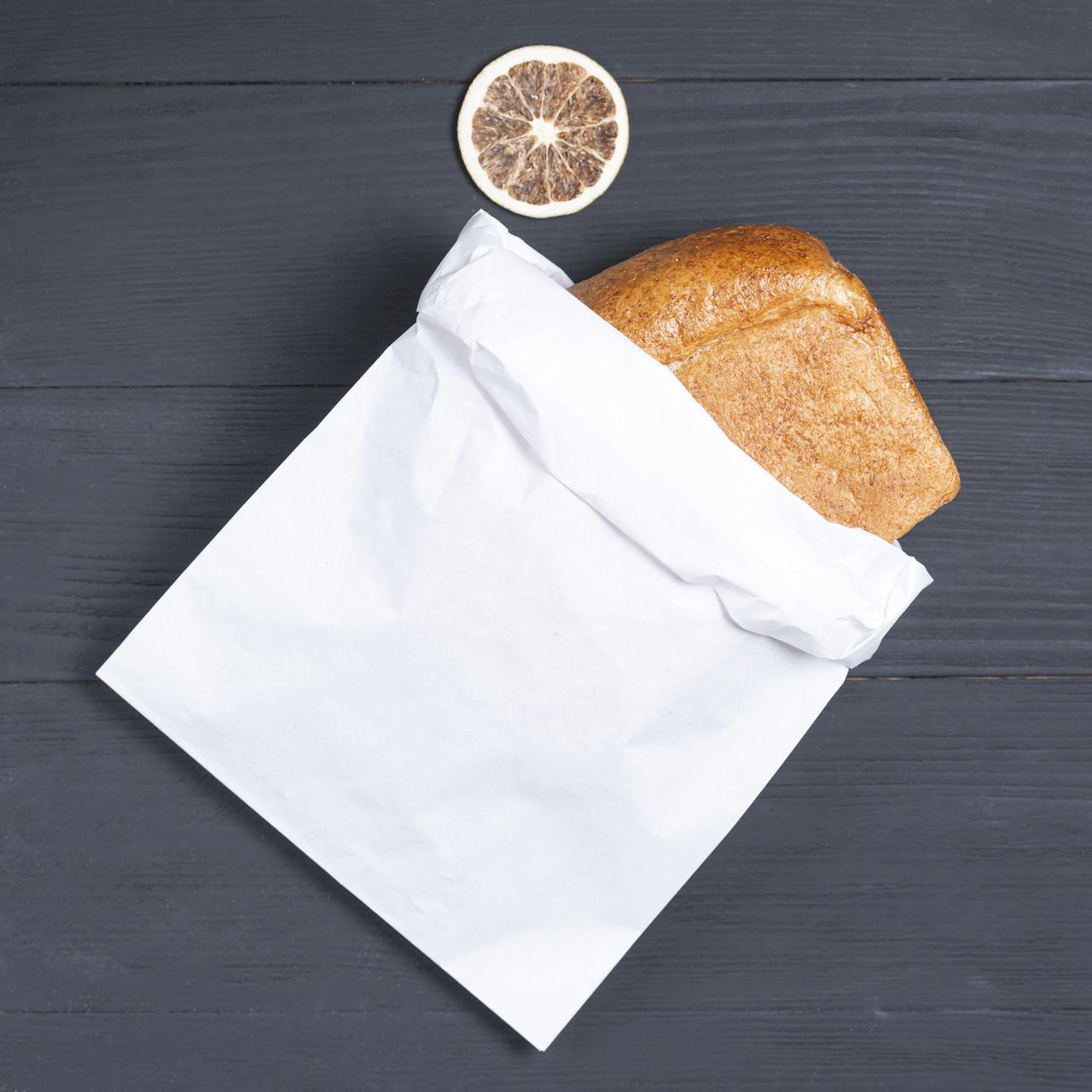Крафт пакет саше белый 220*80*380 мм бумажный пакет под выпечку