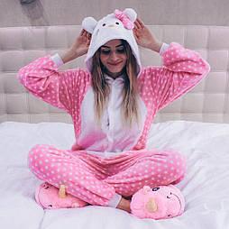 (S, M, L) Кигуруми розовый Hello Kitty v119