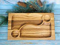 Менажница из дерева для подачи блюд 41х24 см, фото 1